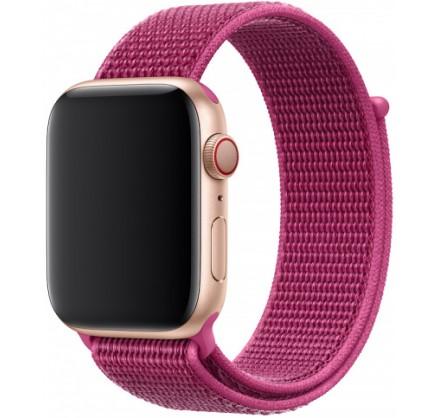 Ремешок спортивный браслет Apple Watch 38/40 мм малинов...