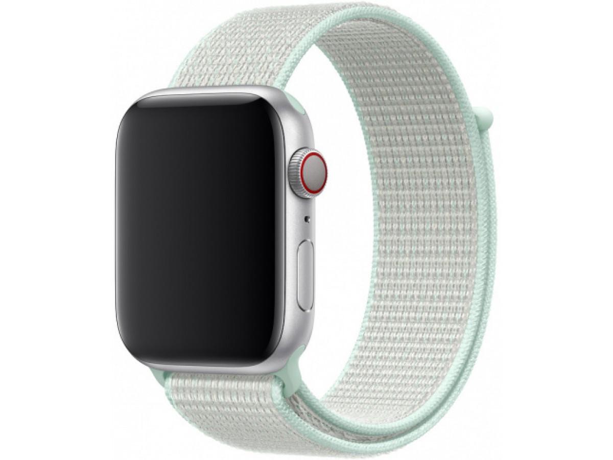 Ремешок спортивный браслет Apple Watch 38/40 мм мятный в Тюмени