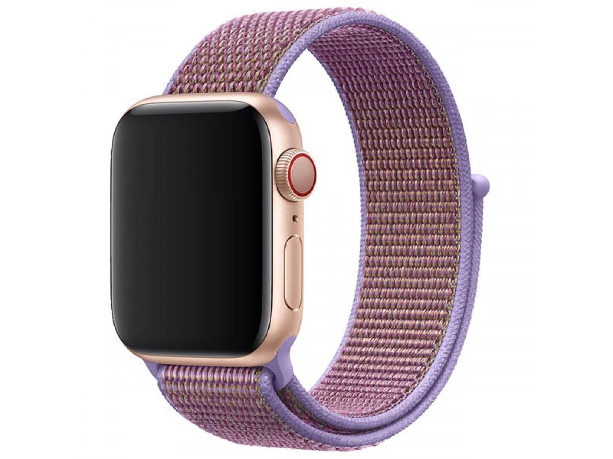 Ремешок спортивный браслет Apple Watch 38/40 мм сиреневый в Тюмени