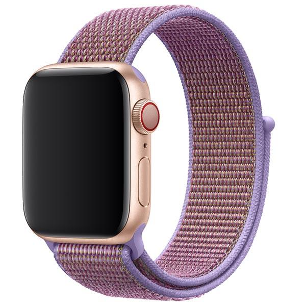 Ремешок спортивный браслет Apple Watch 38/40 мм сиреневый