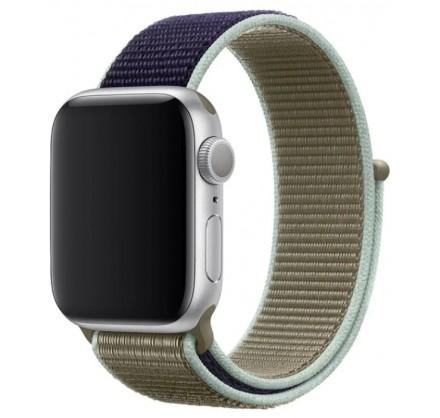 Ремешок спортивный браслет Apple Watch 42/44 мм зеленый...