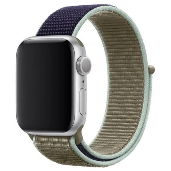 Ремешок спортивный браслет Apple Watch 38/40 мм зеленый/синий