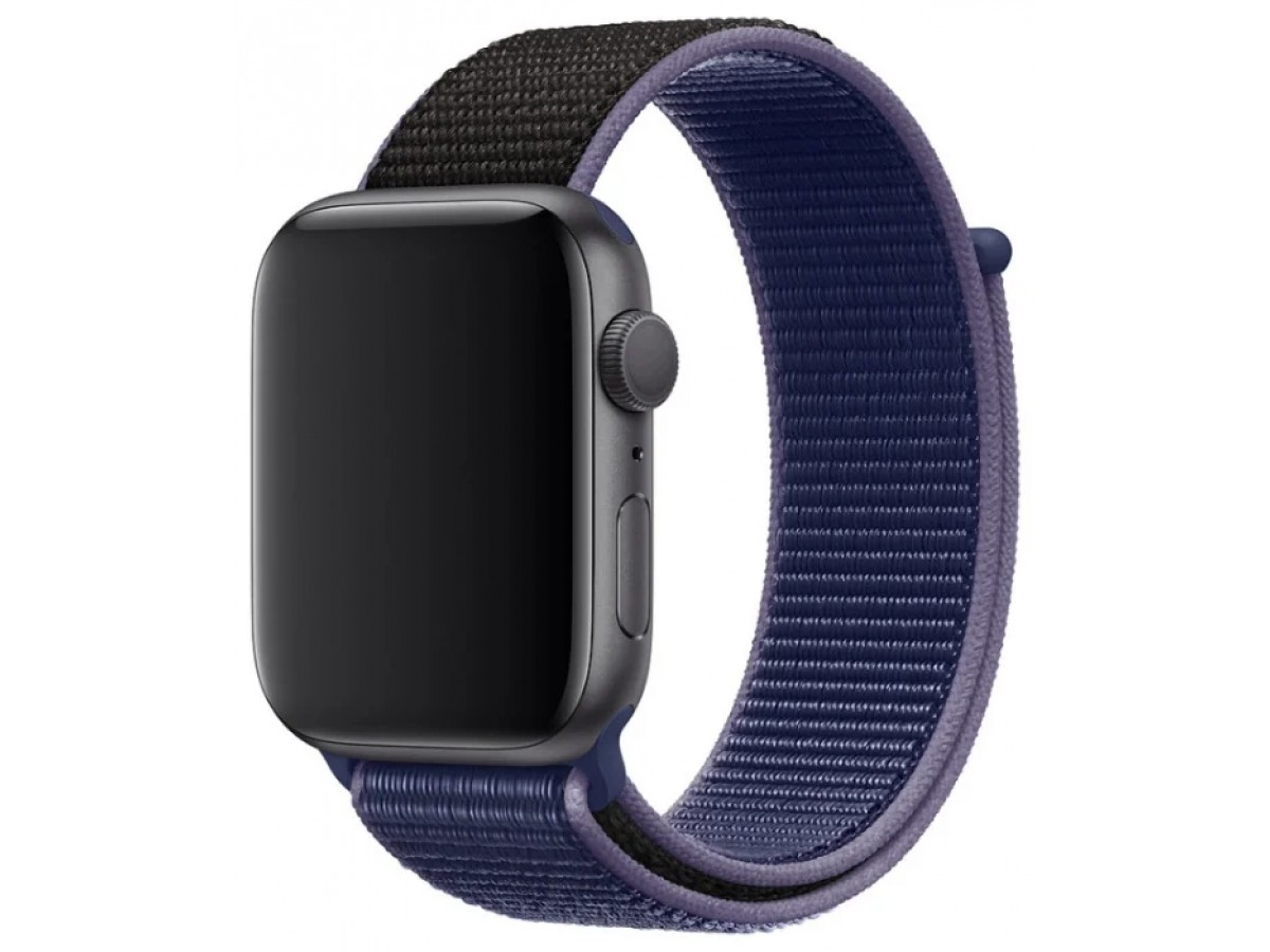 Ремешок спортивный браслет Apple Watch 42/44 мм фиолетовый в Тюмени