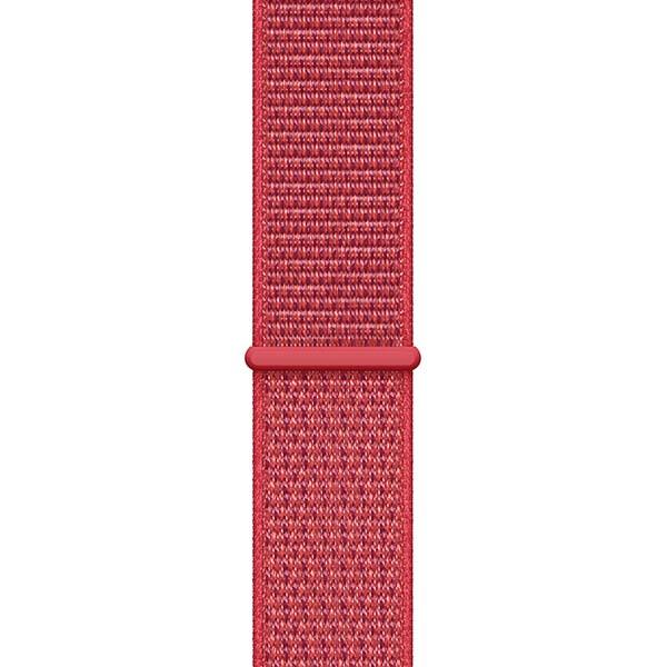 Ремешок спортивный браслет Apple Watch 42/44 мм красный