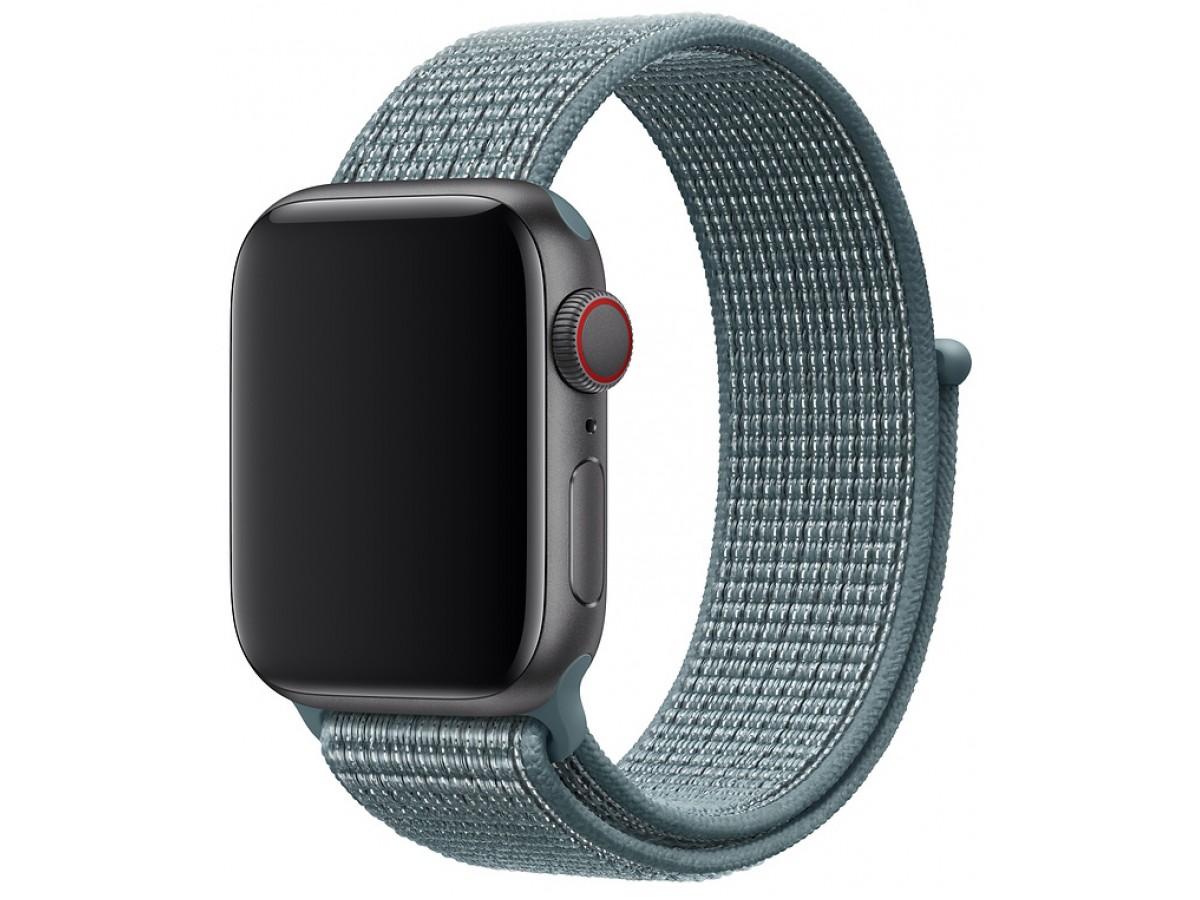Ремешок спортивный браслет Apple Watch 42/44 мм сине-зеленый в Тюмени