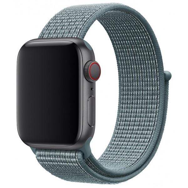 Ремешок спортивный браслет Apple Watch 42/44 мм сине-зеленый