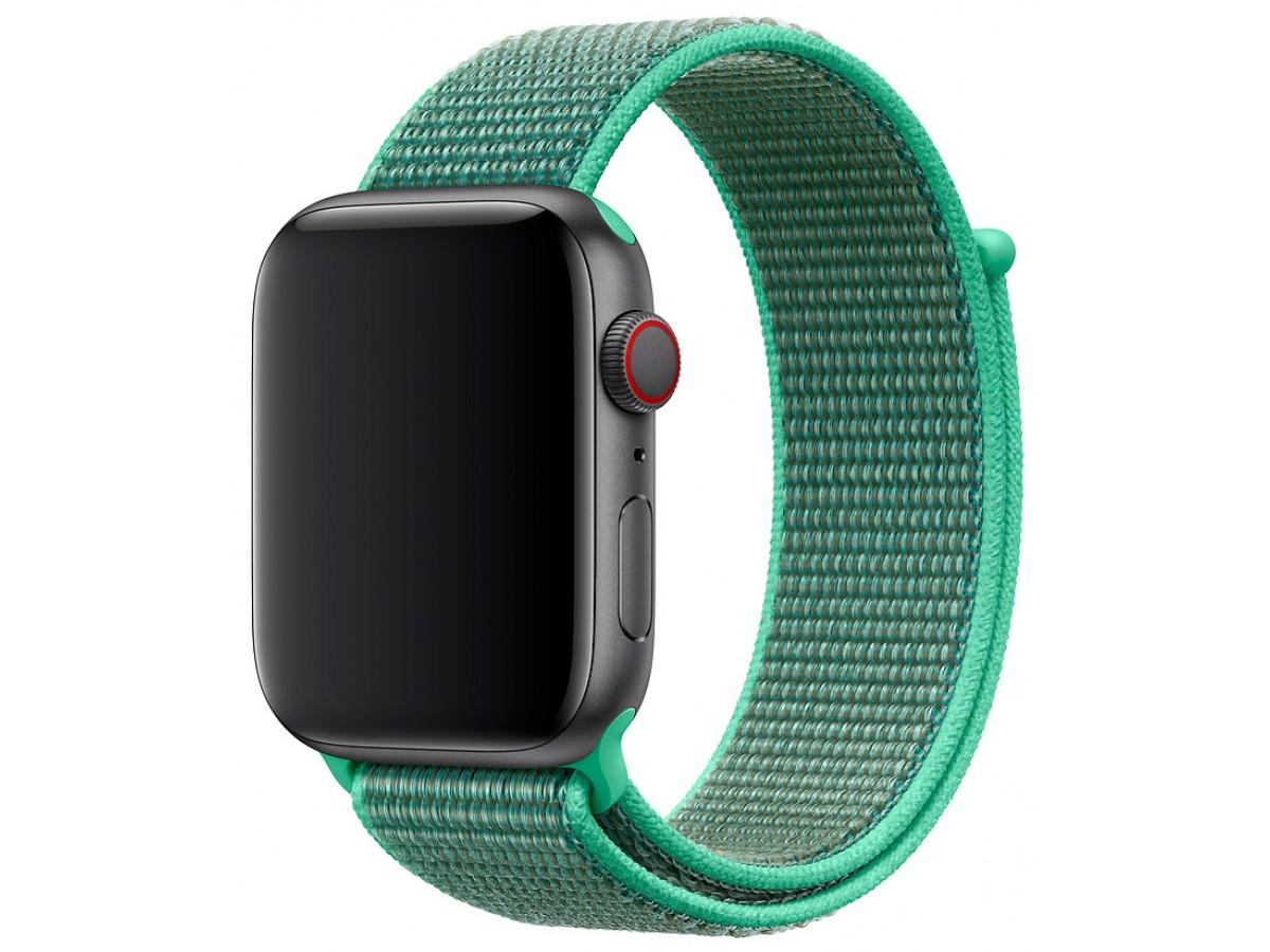 Ремешок спортивный браслет Apple Watch 38/40 мм зеленый в Тюмени