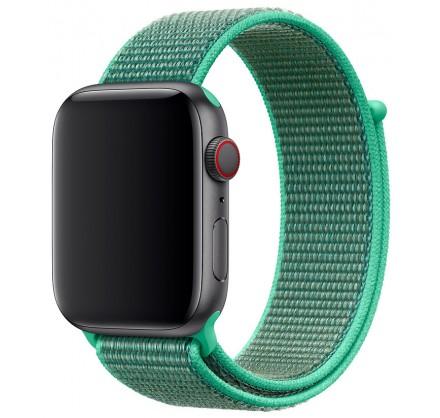 Ремешок спортивный браслет Apple Watch 42/44 мм зеленый