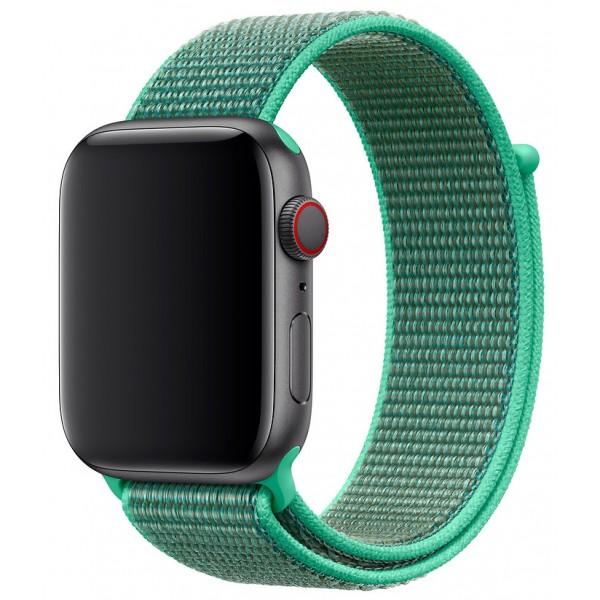 Ремешок спортивный браслет Apple Watch 38/40 мм зеленый