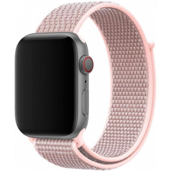 Ремешок спортивный браслет Apple Watch 38/40 мм серо-розовый