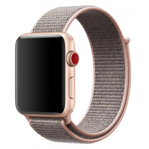 Ремешок спортивный браслет Apple Watch 42/44 мм розовый