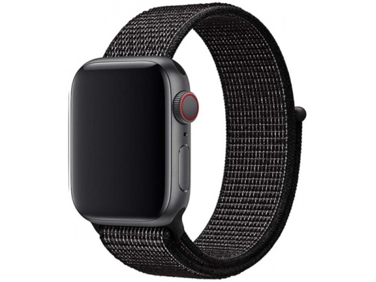 Ремешок спортивный браслет Apple Watch 38/40 мм серый в Тюмени