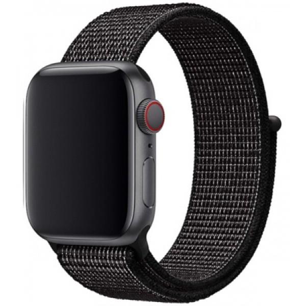 Ремешок спортивный браслет Apple Watch 38/40 мм серый