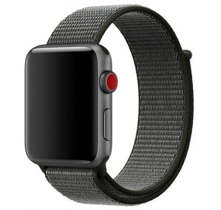 Ремешок спортивный браслет Apple Watch 42/44 мм серый/ч...