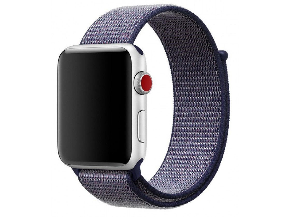 Ремешок спортивный браслет Apple Watch 38/40 мм синий в Тюмени