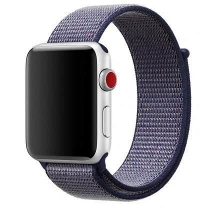 Ремешок спортивный браслет Apple Watch 42/44 мм синий