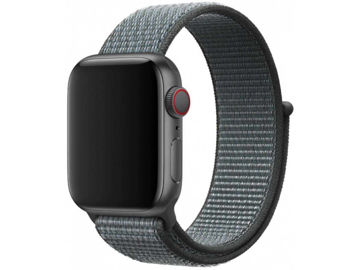 Ремешок спортивный браслет Apple Watch 42/44 индиго в Тюмени