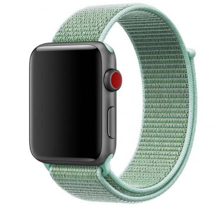 Ремешок спортивный браслет Apple Watch 42/44 мм бирюзов...
