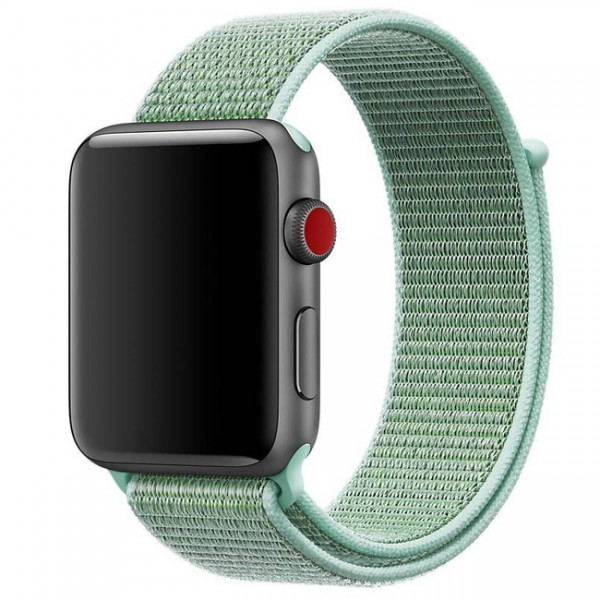 Браслет Apple Watch 38/40мм Спортивная петля (Бирюзовый)