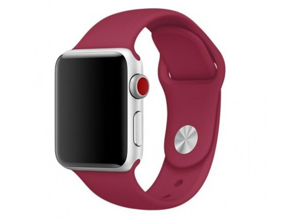 Силиконовый ремешок Apple Watch 38/40мм малиновый  в Тюмени