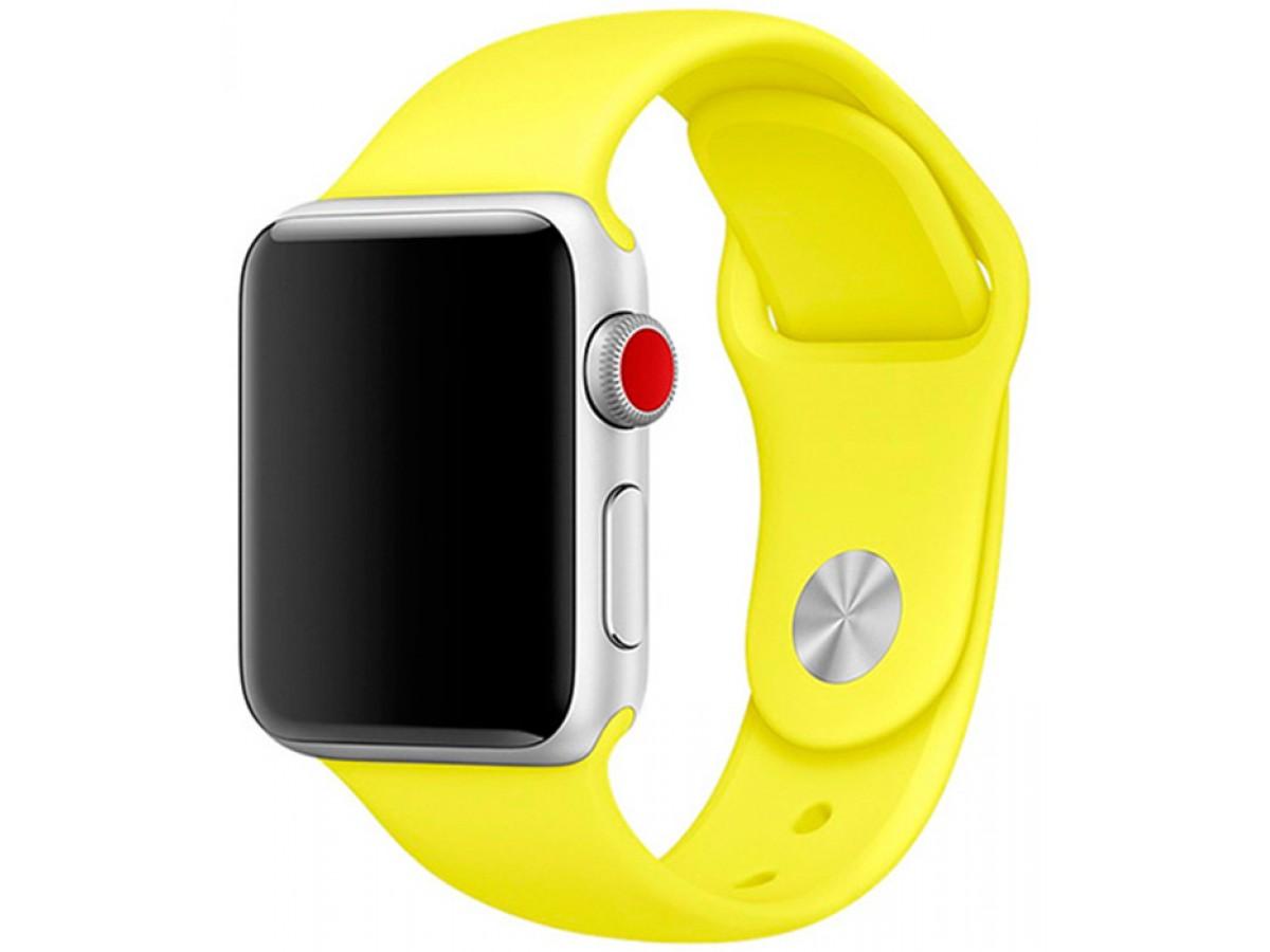 Силиконовый ремешок Apple Watch 38/40мм желтый  в Тюмени