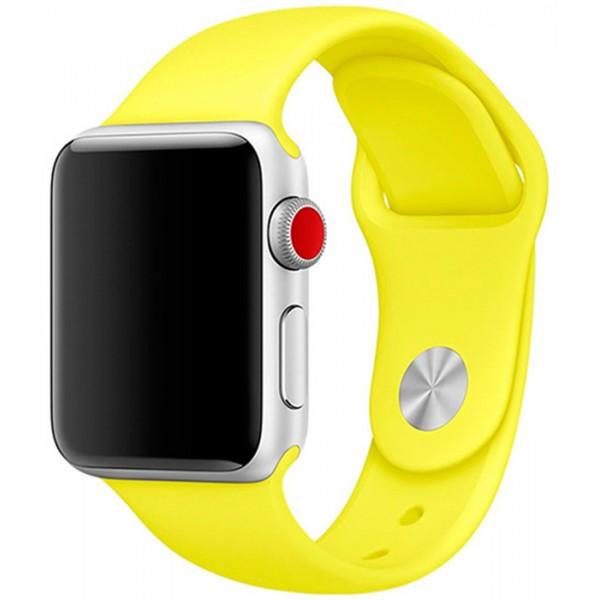 Силиконовый ремешок Apple Watch 38/40мм желтый