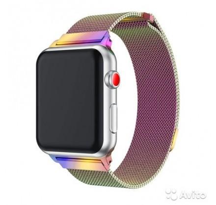 Браслет Apple Watch 38/40мм миланский сетчатый (хамелео...
