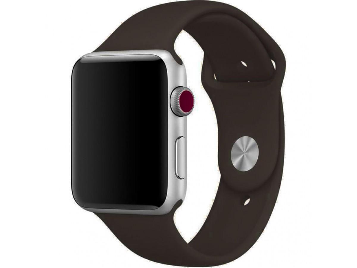 Силиконовый ремешок Apple Watch 42/44мм Темно-коричневый в Тюмени