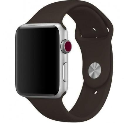 Силиконовый ремешок Apple Watch 42/44мм Темно-коричневы...