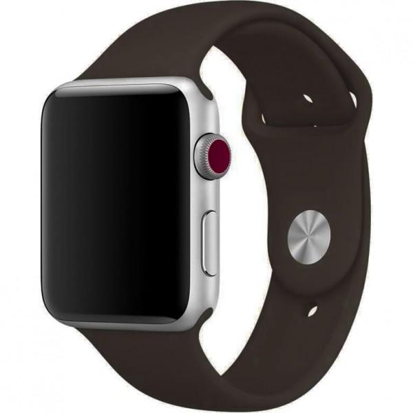 Силиконовый ремешок Apple Watch 42/44мм Темно-коричневый
