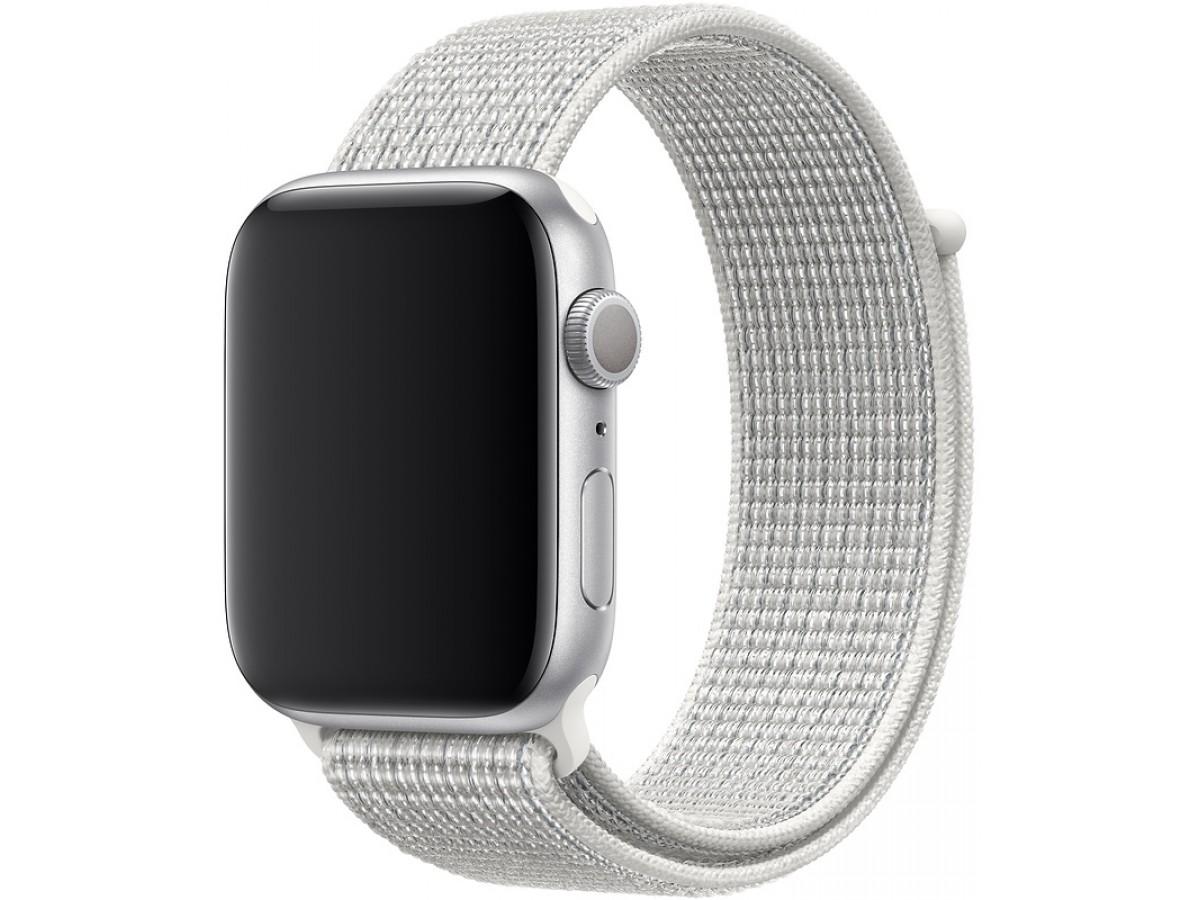 Браслет Apple Watch 38/40мм Спортивная петля (Белый) в Тюмени