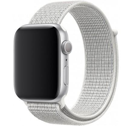 Ремешок спортивный браслет Apple Watch 42/44 мм белый