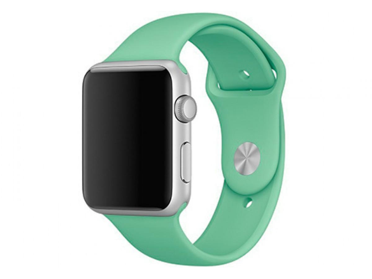Силиконовый ремешок Apple Watch 38/40мм мятный  в Тюмени