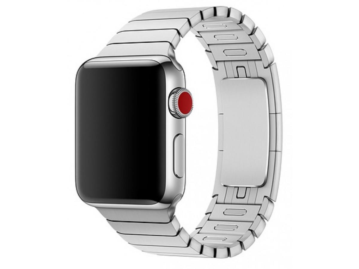 Браслет блочный Apple Watch 42/44мм, серебристый в Тюмени