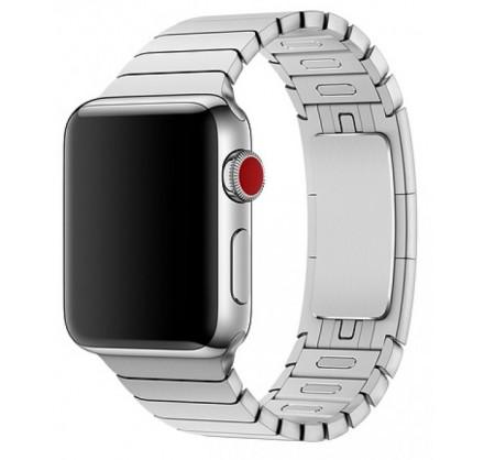 Браслет блочный Apple Watch 42/44мм, серебристый