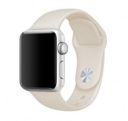 Силиконовый ремешок Apple Watch 38/40мм светло-бежевый