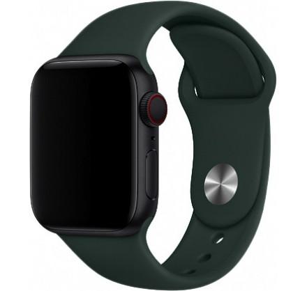 Силиконовый ремешок Apple Watch 42/44мм темно-зеленый