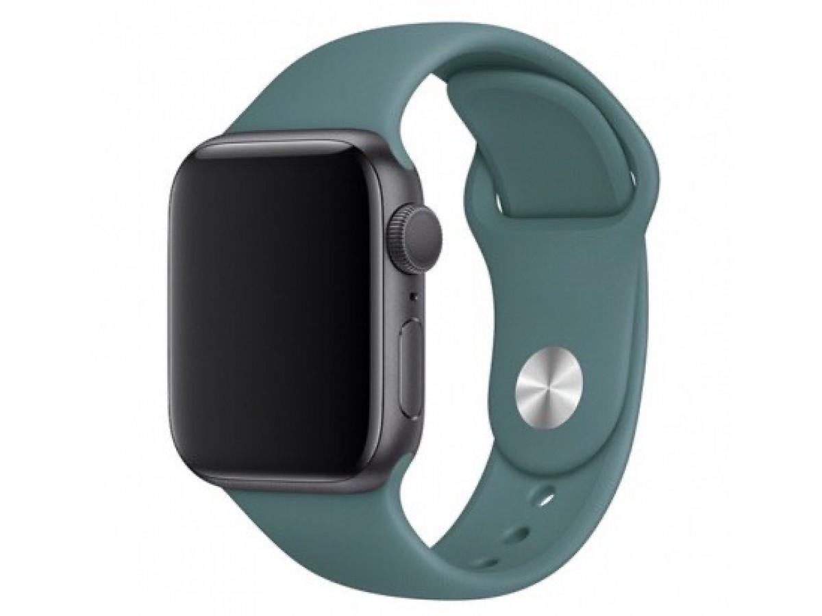 Силиконовый ремешок Apple Watch 38/40мм темно-зеленый  в Тюмени