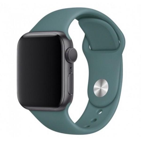 Силиконовый ремешок Apple Watch 38/40мм темно-зеленый
