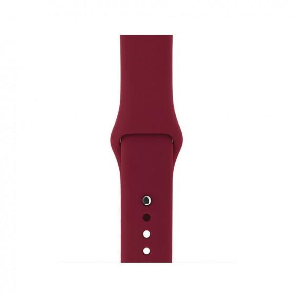 Силиконовый ремешок Apple Watch 42/44мм винный