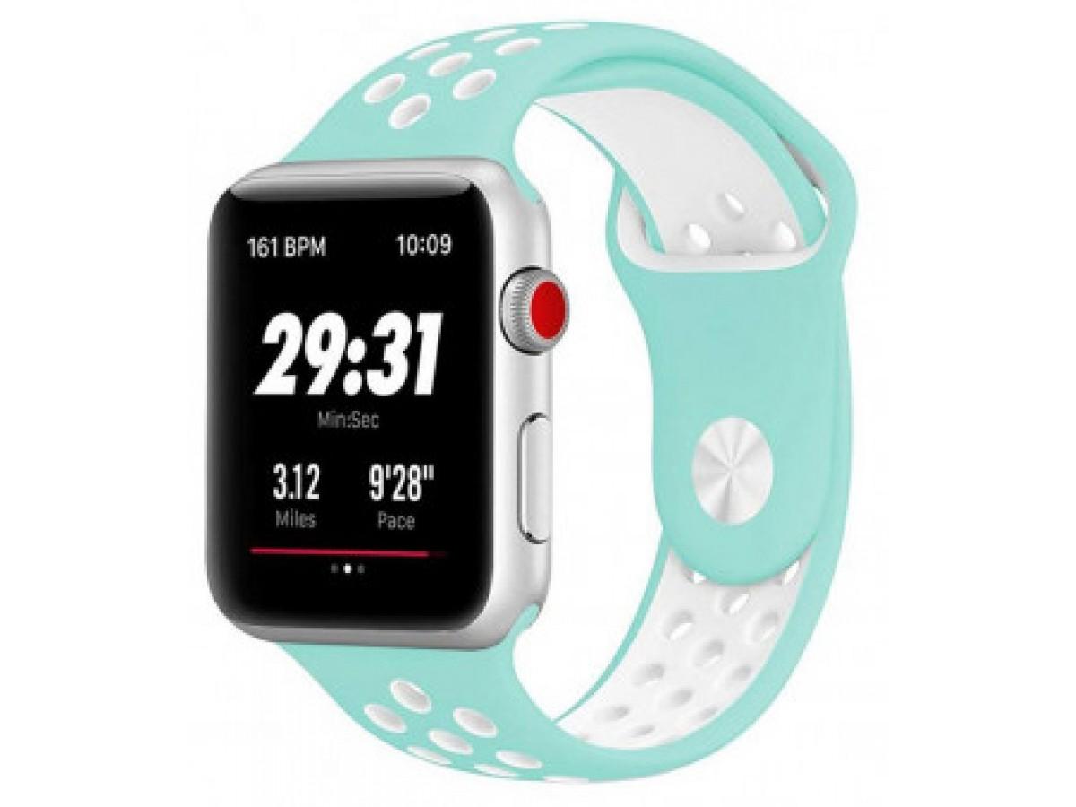 Силиконовый ремешок Apple Watch Nike 42/44мм бирюзовый в Тюмени