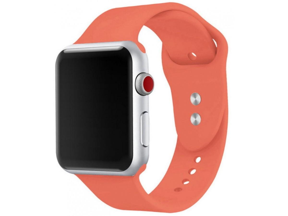 Силиконовый ремешок Apple Watch 38/40мм коралловый в Тюмени
