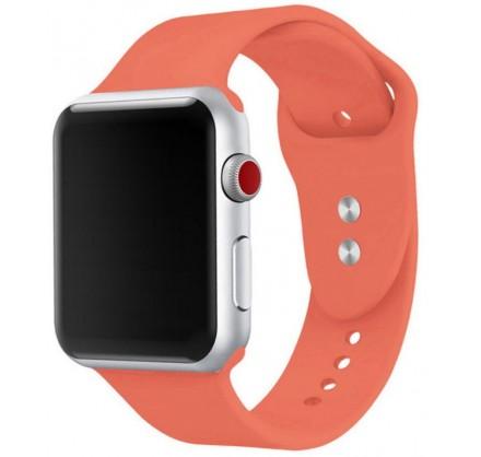 Силиконовый ремешок Apple Watch 38/40мм коралловый