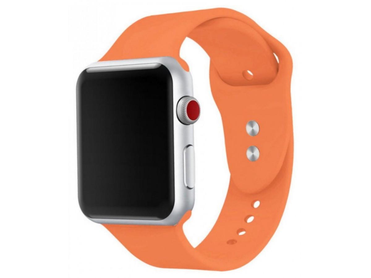 Силиконовый ремешок Apple Watch 38/40мм оранжевый  в Тюмени