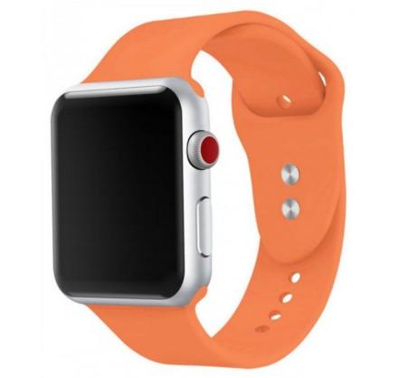 Силиконовый ремешок Apple Watch 38/40мм оранжевый