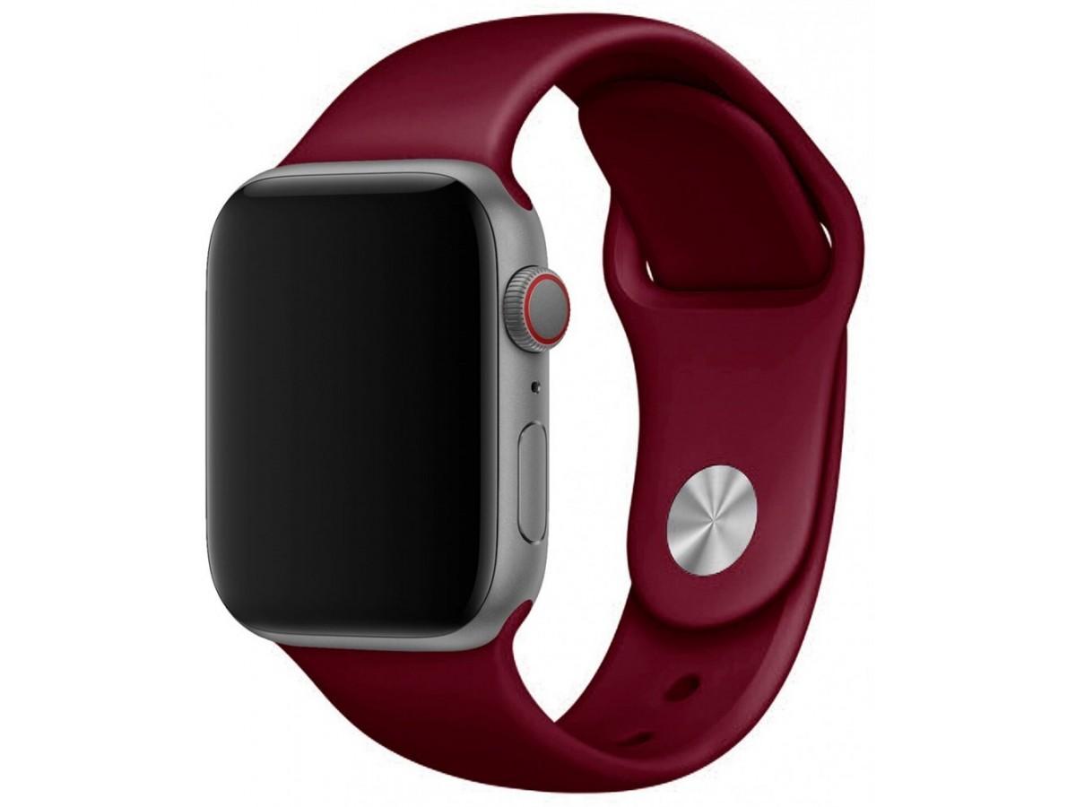 Силиконовый ремешок Apple Watch 38/40 мм винный в Тюмени