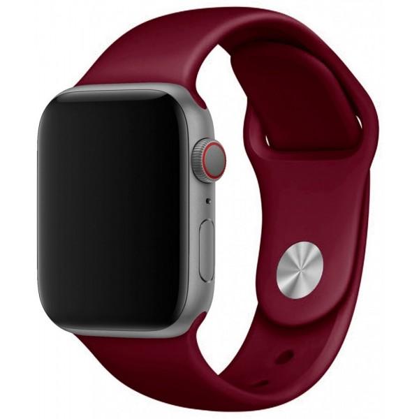Силиконовый ремешок Apple Watch 38/40 мм винный