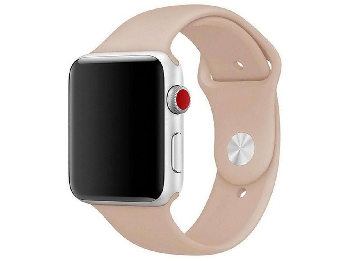 Силиконовый ремешок Apple Watch 38/40 мм бежевый в Тюмени