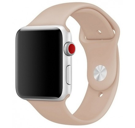 Силиконовый ремешок Apple Watch 38/40 мм бежевый