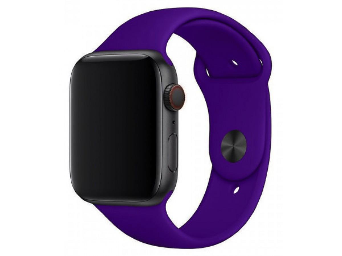 Силиконовый ремешок Apple Watch 38/40мм фиолетовый в Тюмени